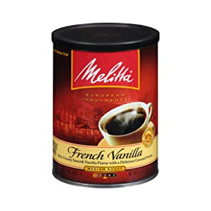 Melitta French Vanilla Flavored Coffee, Medium Roast, Extra Fine Grind, 11 Ounce Can