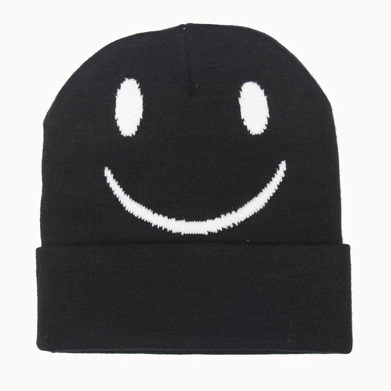 Saingace Mode Kappe,Unisex Slouchy Maxi-Knitting Beanie Cap Smiling Face Ski Hut