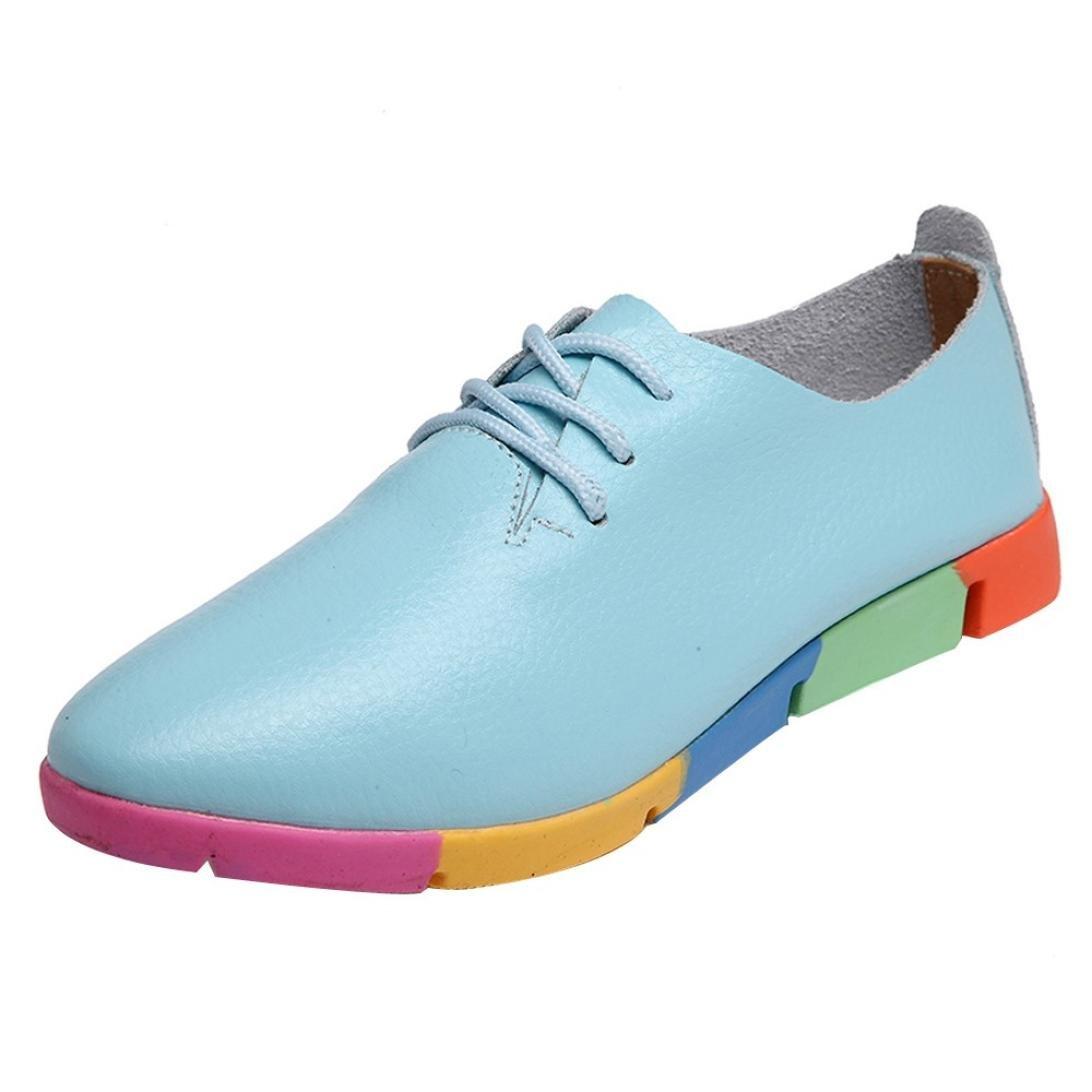 Upxiang , Chaussures Bateau pour , Femme Chaussures Bateau Bleu Clair c76a3c4 - deadsea.space