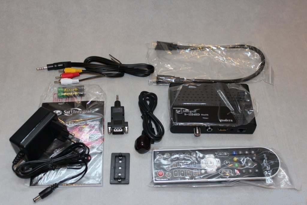 Full HD Receptor de TV por satélite Sat Integral S-1224 HD Stealth modern (HDMI, Internet, USB 2.0, PVR-Ready), negro, mini: Amazon.es: Electrónica