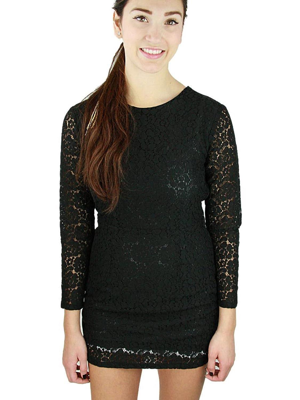 MoonTree Ladies Lace Back Cutout Minidress