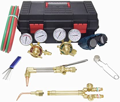 Ameriflame TI350 Medium//Heavy Duty Portable Welding//Cutting//Brazing Outfit with Plastic Carrying Stand Uniweld Products Inc.