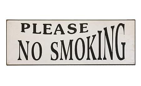 Cartel de chapa No Smoking Vintage estilo Edison Estilo de ...