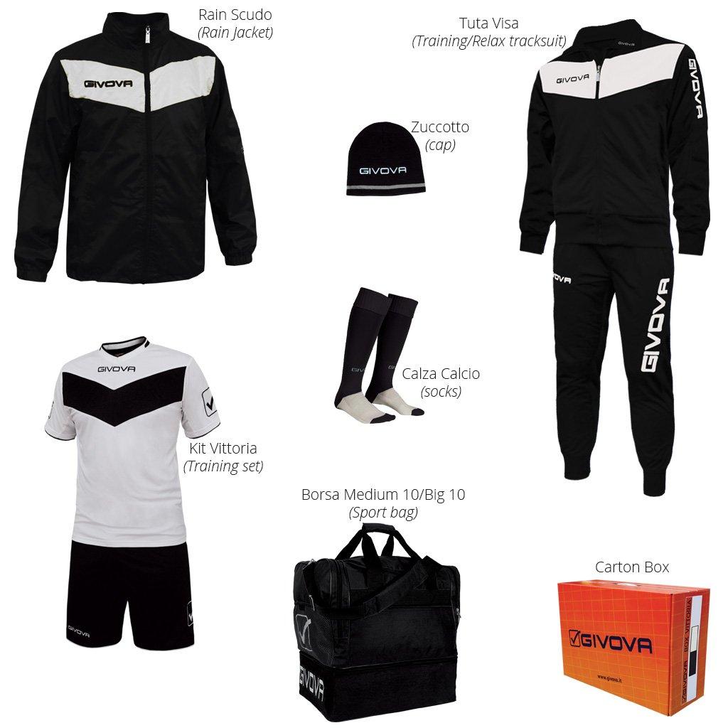 Givova Vittoria Complete Football Box Kit, unisex adult, Box Vittoria BOX03