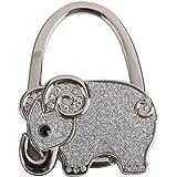 Accroche Sac Porte-Sac Crochet de Sac à Main Pliable Eléphant Brillant