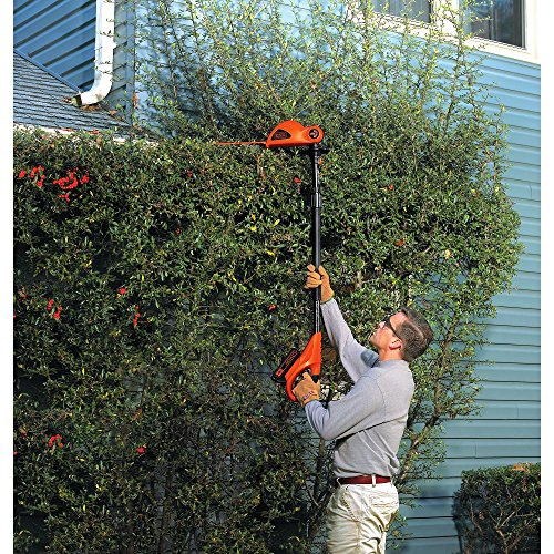 BLACK+DECKER 20V MAX Cordless Pole Hedge Trimmer, 18-Inch (LPHT120)