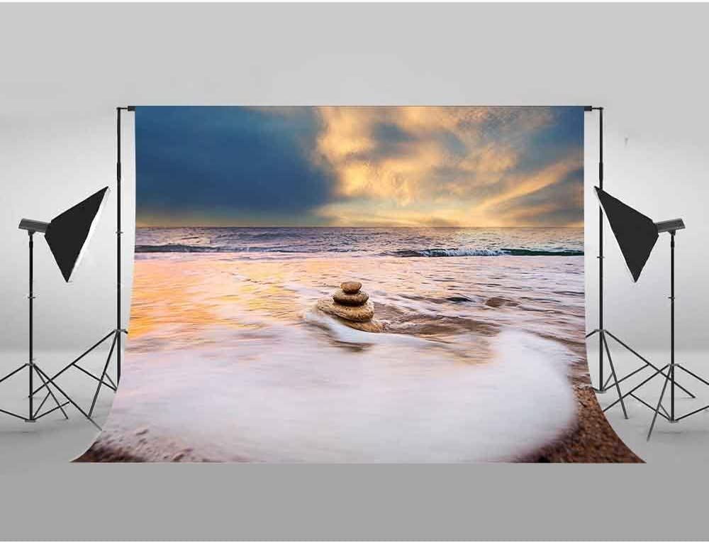 MEETS 7x5ft Ocean Scenery Backdrop Sunset Blue Sky Photography Background Themed Party Photo Booth YouTube Facebook Backdrop XCMT294
