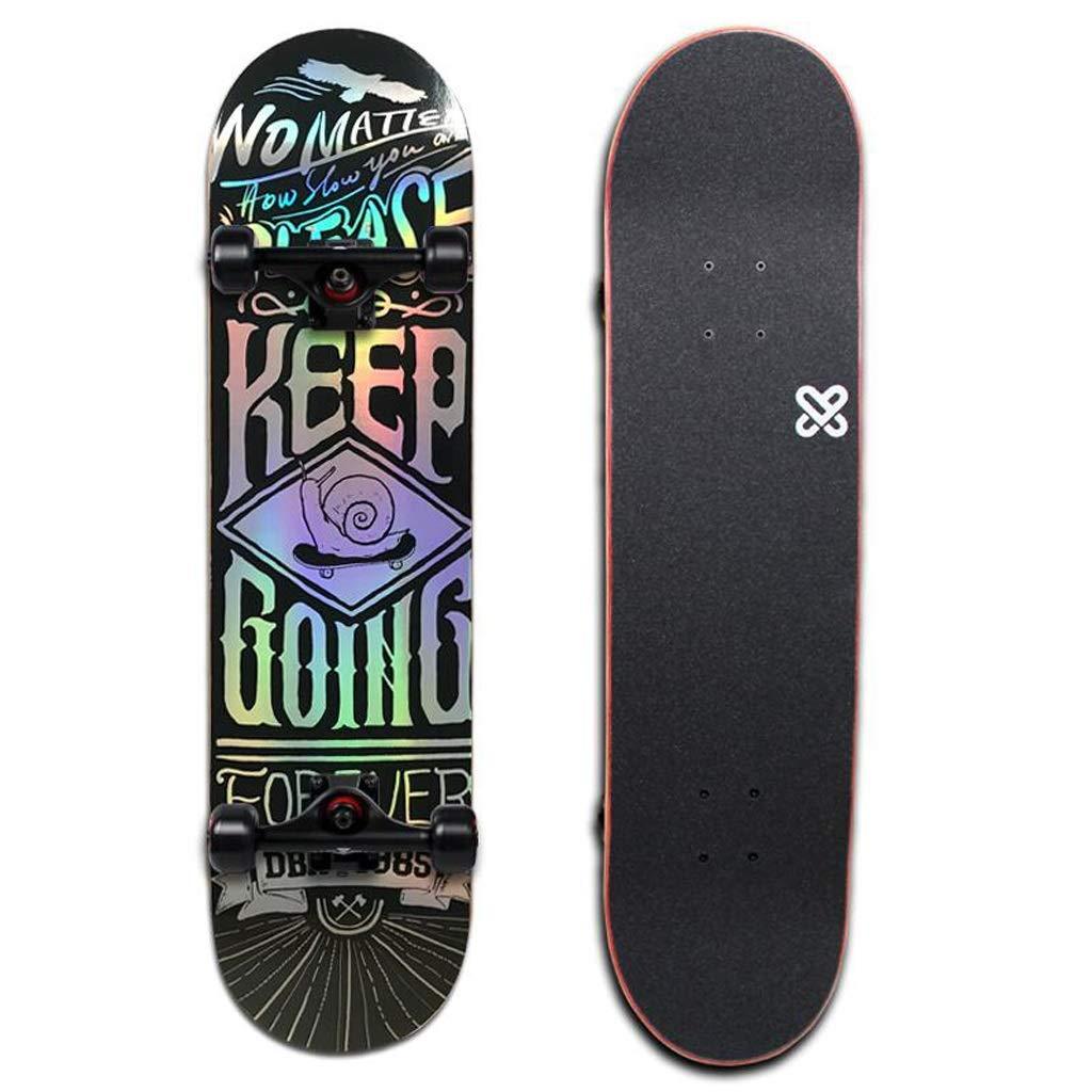 HBJP Longboard Skateboard Anfänger Anfänger Anfänger Erwachsener vierrädriges Tanzbrett doppelt verzogen Roller Multi-Style optional Skateboard (Farbe   A) B07Q28Q4TM Skateboards Attraktive Mode 74b866