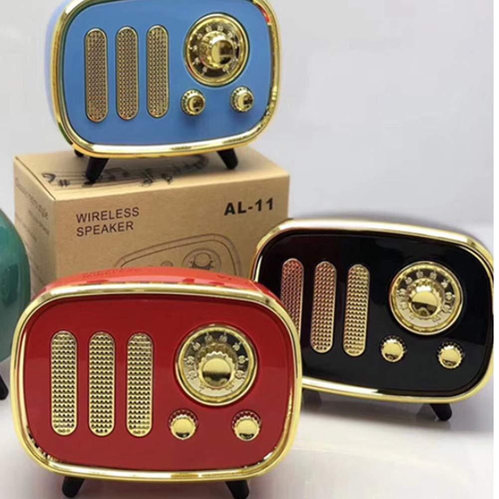 nero + oro HEMOBLLO Bluetooth Radio USB Retro Vintage stile classico Bluetooth multi funzione Speaker Radio FM