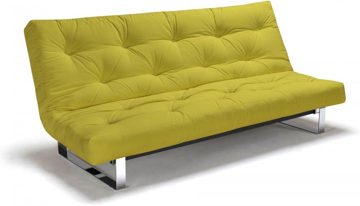 Futon sofá mínimo – Sofá-Cama 140 x 200 cm con Futon & somier, Color y Futon para Elegir, el Metal botón: Amazon.es: Juguetes y juegos