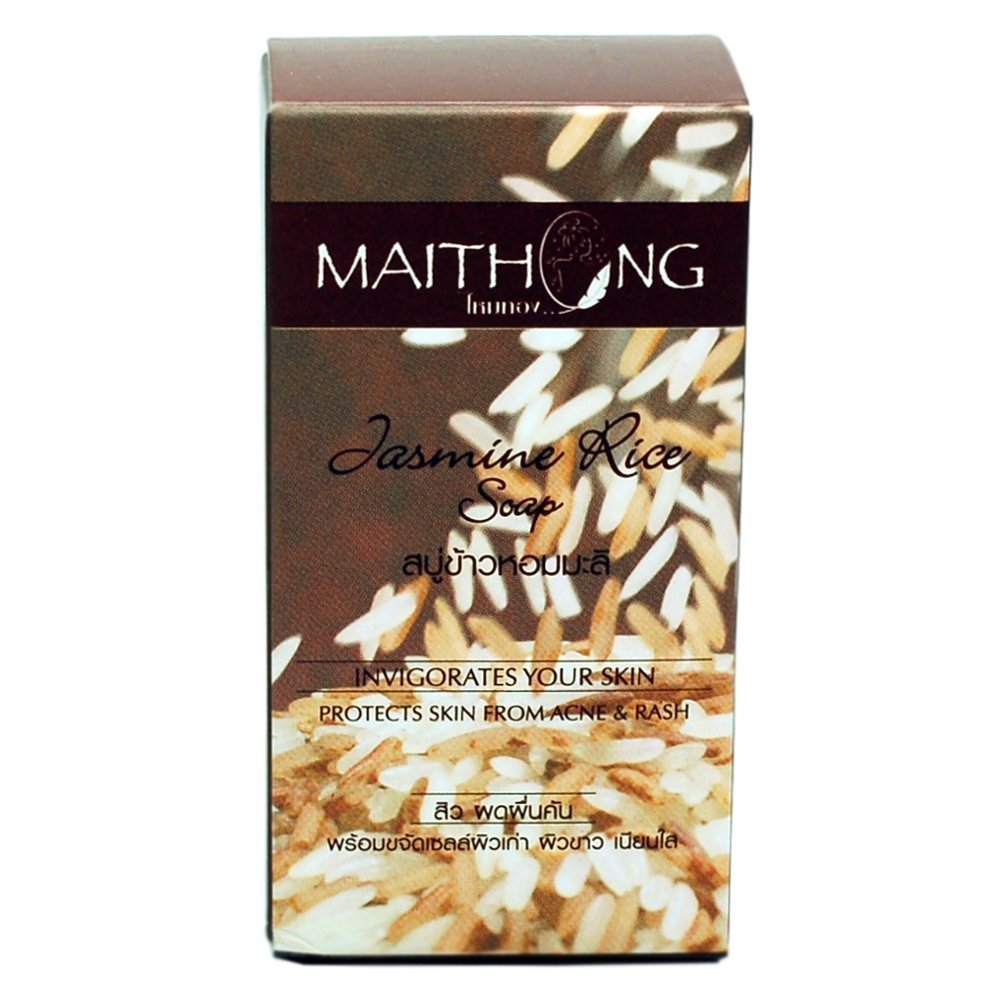 (1 Dozen) Maithong Jasmine & RED Rice Herbal Soap by Maithong