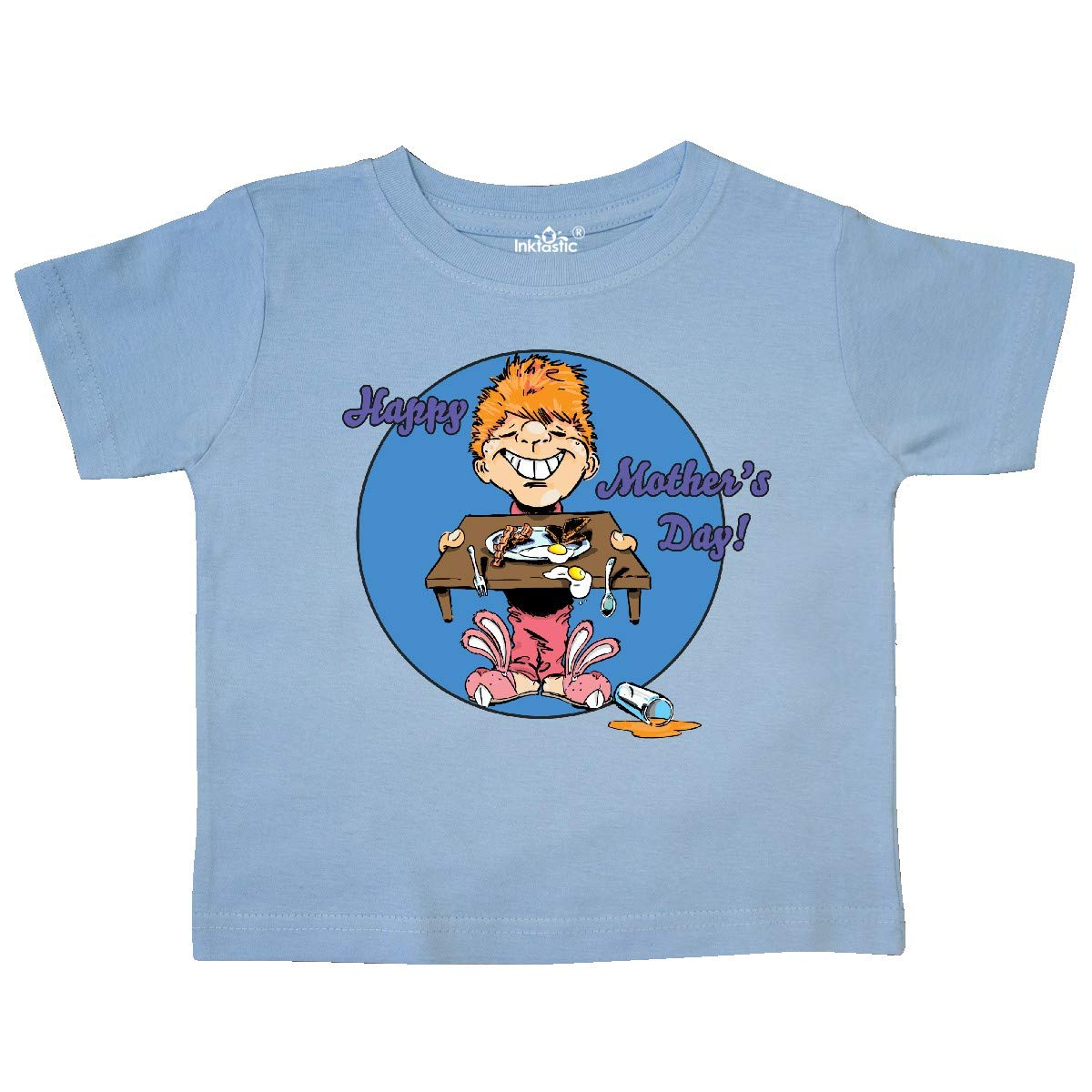inktastic Happy Mothers Day Redhead Son with Breakfast Toddler T-Shirt