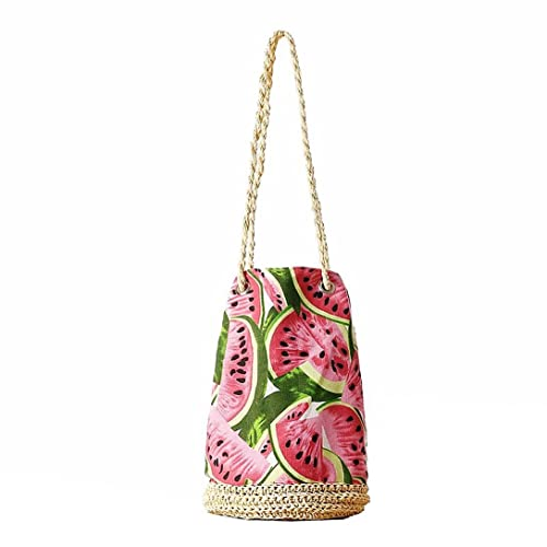 0ae7f23f2ef7 HPASS Summer Canvas Beach Bucket bag Summer Beach bag Beach Tote Bag  Handmade Straw Woven  Amazon.co.uk  Shoes   Bags