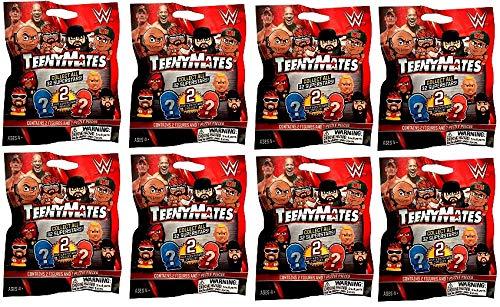 TeenyMates - WWE Wrestling Figure (2) PER Pack - Sealed Blind Bag LOT (8) (Toys Evolution Wwe)
