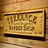 ADVPRO wpa0425 Barber Shop Name Personalized with Est. Year Hair Cut Wood Engraved Wooden Sign - Standard 23'' x 9.25''