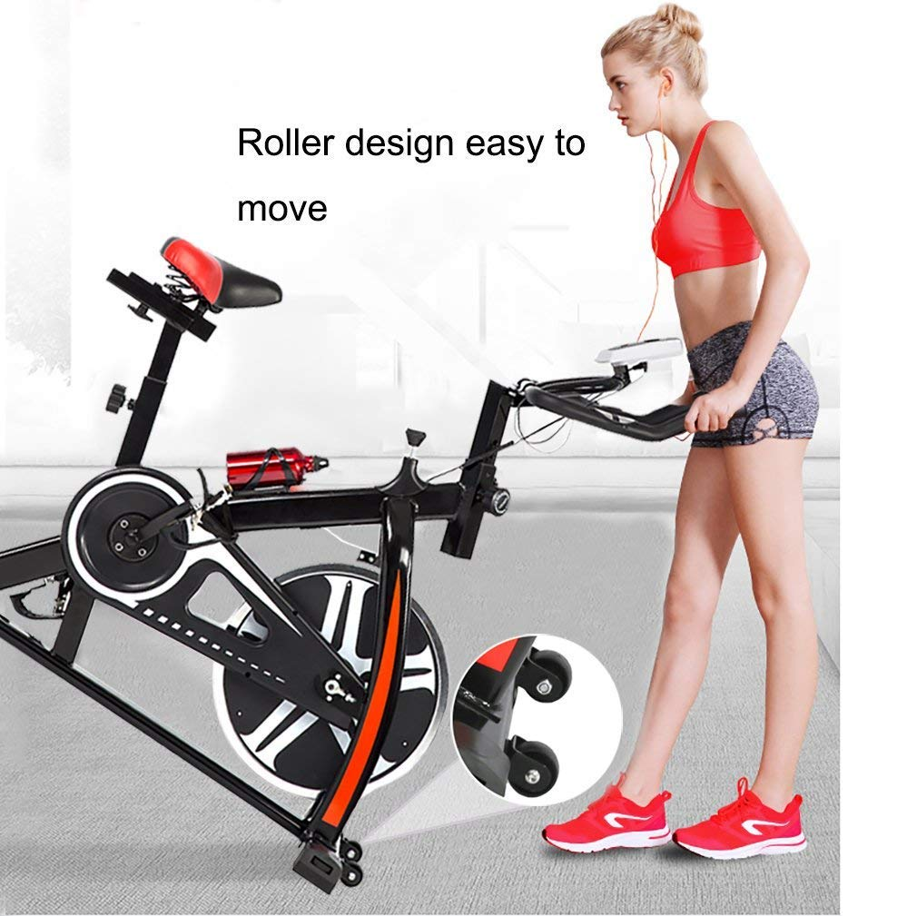 BestMassage Cycling Bike Exercise Bike Pro Indoor Cycling Spin Bike Trainer Bicycle Cardio Fitness Heart Pulse W/LED Display Stationary Indoor Pro Indoor Training Equipment by BestMassage (Image #2)