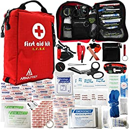 ArmaPrep First Aid Kit – Compact IFAK with Rapid Response Labels, MOLLE, Tourniquet & Survival Tools – Small First Aid Kit for Car Vehicle Camping Hiking & Backpacking