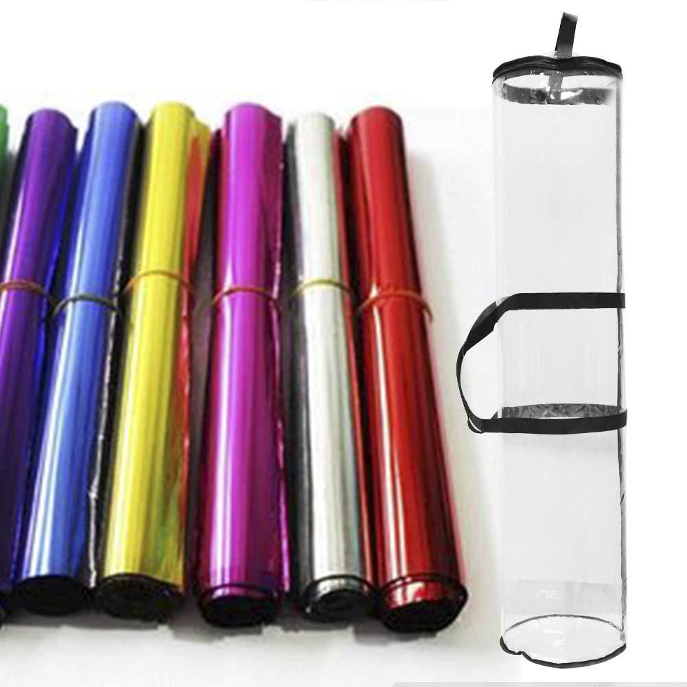 bolsa transparente de PVC resistente con asas y cierre superior y cintas 40 X 9 Inch//100 para almacenar hasta 24 rollos de 40 pulgadas 2 bolsas organizadoras de papel de regalo 24cm 1 Pack