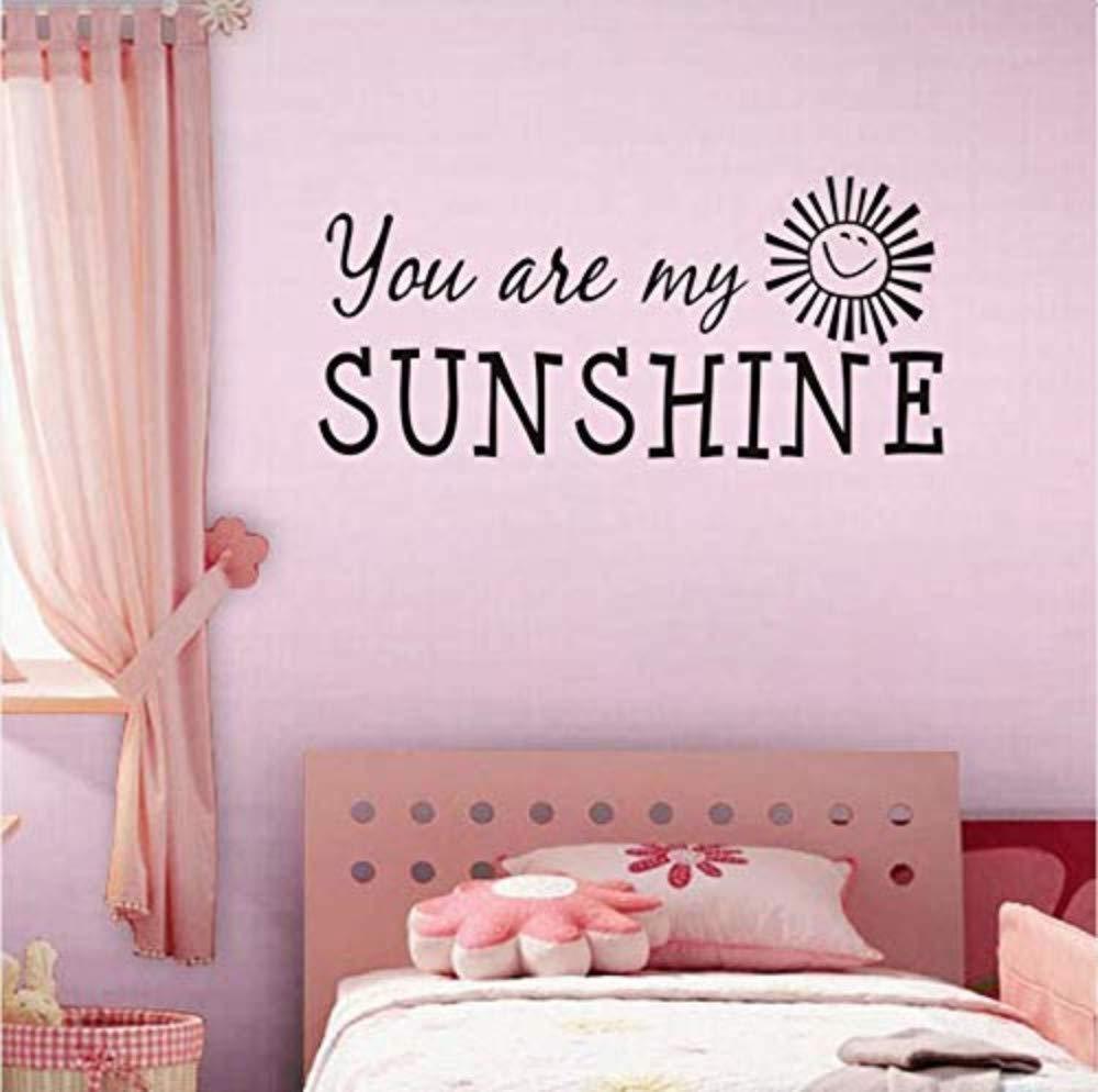 Amazon Com Wall Sticker You Re My Sunshine Inspiring Words Black