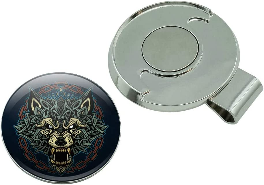 GRAPHICS /& MORE Fenrir Fierce Snarling Wolf in Chains Norse Mythology Ice Hockey Puck