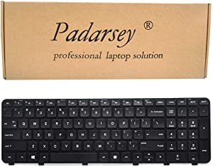 Padarsey Keyboard Replacement with Frame Compatible for HP Pavilion DV6-6000 DV6-6100 DV6-6B00 DV6-6C00 DV6T-6000 DV6T-6100 DV6T-6200 DV6-6108US DV6-6114US DV6-6B26US DV6-6C10US Series US Layout
