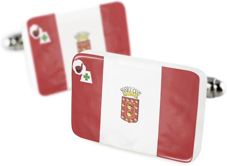 Gemelos bandera de la Gomera región: España porcelana cerámica Neonblond: Amazon.es: Joyería