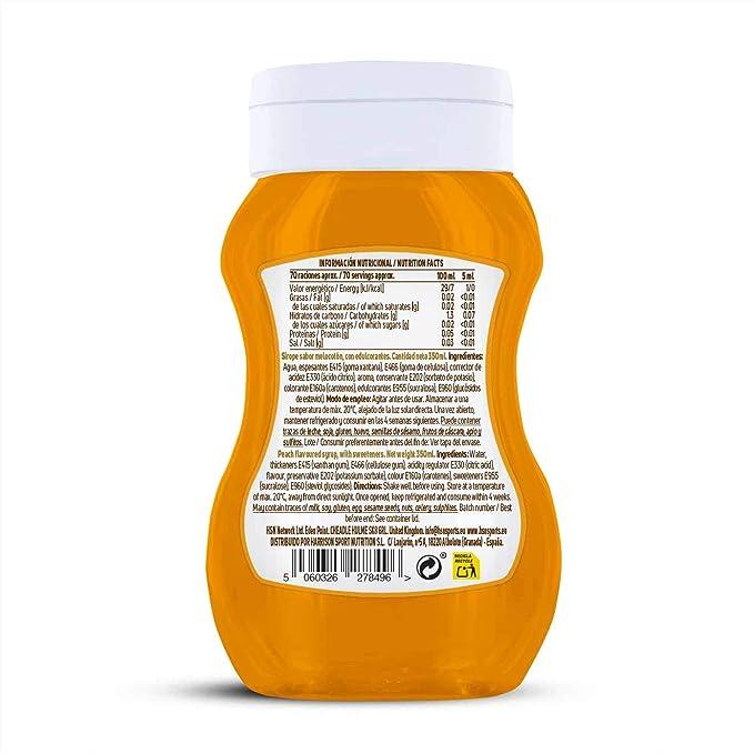 Sirope de Melocotón de HSN Foods - Sin Grasa, Sin Azúcar, Edulcorado con Estevia, Apto Vegetarianos - 350ml: Amazon.es: Alimentación y bebidas