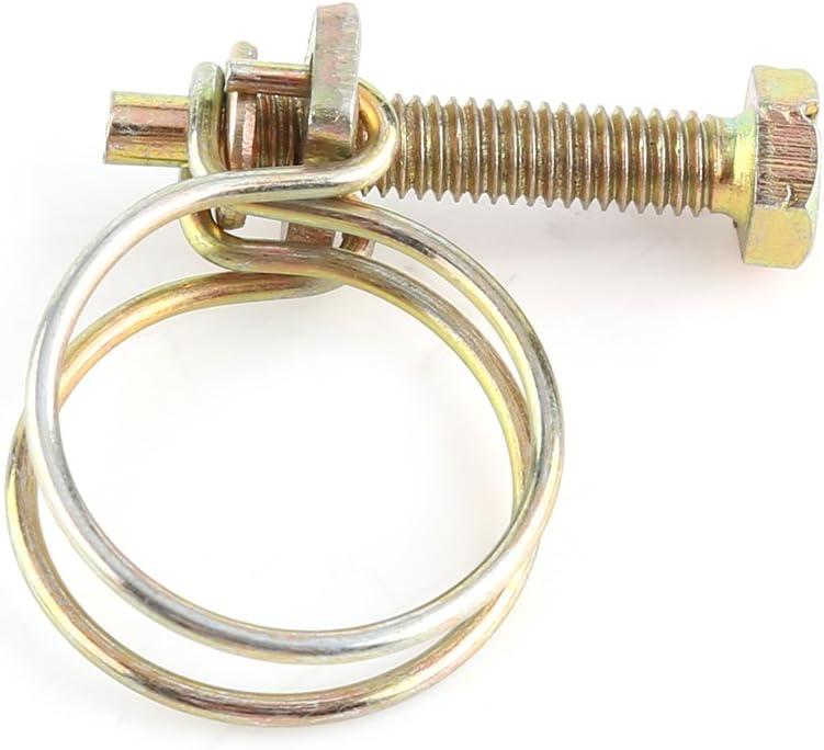 16mm(13-16) 10pcs doppelte Draht-Schlauch-Klipps justierbare Schlauch-Klemmplatten-Klempner-Befestigungsmittel