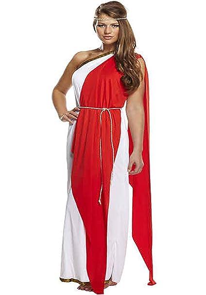 Islander Fashions Mujeres griegas Romanas Rojo Lady Costume Ladies Fancy Fiesta de Noche de gallina Desgaste Vestido un Tama o: Amazon.es: Ropa y ...