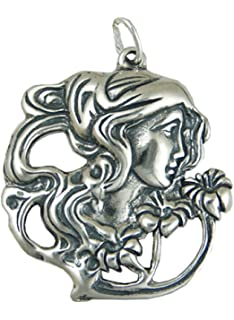 Amazon sterling silver protective gargoyle charm pendants sterling silver woman smelling flowers charm aloadofball Gallery