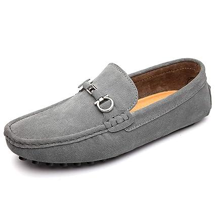 Yajie-shoes, Hombre Casual Clásico Conducción Mocasines Mocasines de Barco de Cuero de Gamuza