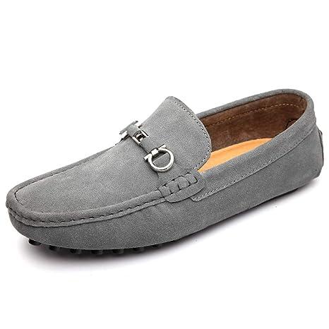 Xiazhi-shoes, Mocasines de conducción clásica de los Hombres Ocasionales Mocasines de Cuero de