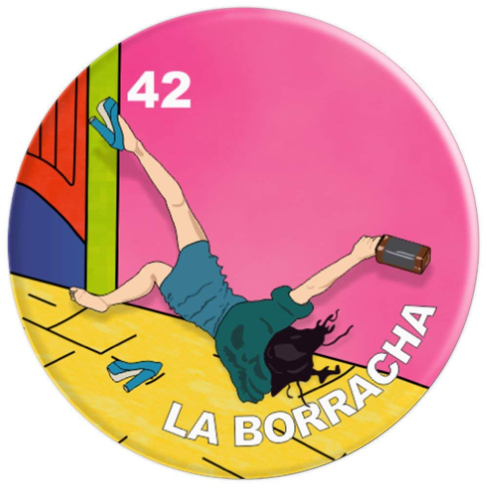 Amazon.com: La borracha mexican style loteria card funny lottery bingo - PopSockets Grip and Stand for Phones and Tablets: Cell Phones & Accessories