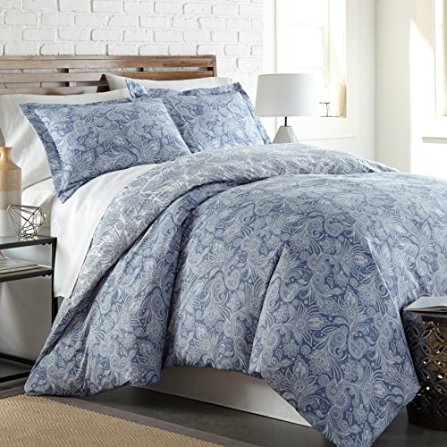 Southshore Fine Linens - Perfect Paisley Collection - Boho Style Comforter Sets, 2 Piece Set, Twin/Twin XL, Blue