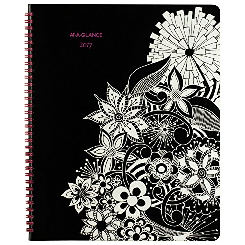 "AT-A-GLANCE Monthly Planner / Appointment Book 2017, Premium, 8-1/2 x 11"", Black/White (589-900)"