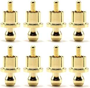 RCA Plug Caps Noise Stopper Caps Shielding Caps Dust Proof Protector(8 Pieces) (Gold-Plated)