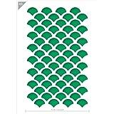 Qbix Scales Stencil - Fish Scales Stencil - Pattern Stencil - A5 Size - Reusable Kids Friendly DIY Stencil for Painting…