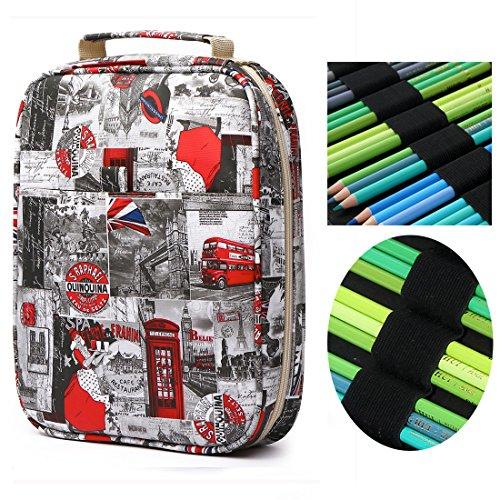 150 slots Colored Pencils Universal Pencil Bag Pen Case Scho