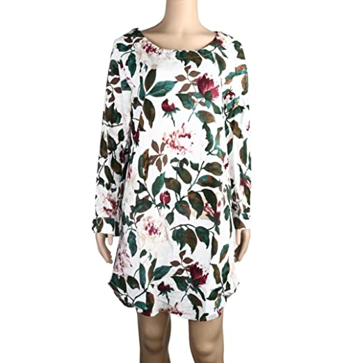 Clearance Sale Wintialy Women Floral Print Mini Dress Summer Party