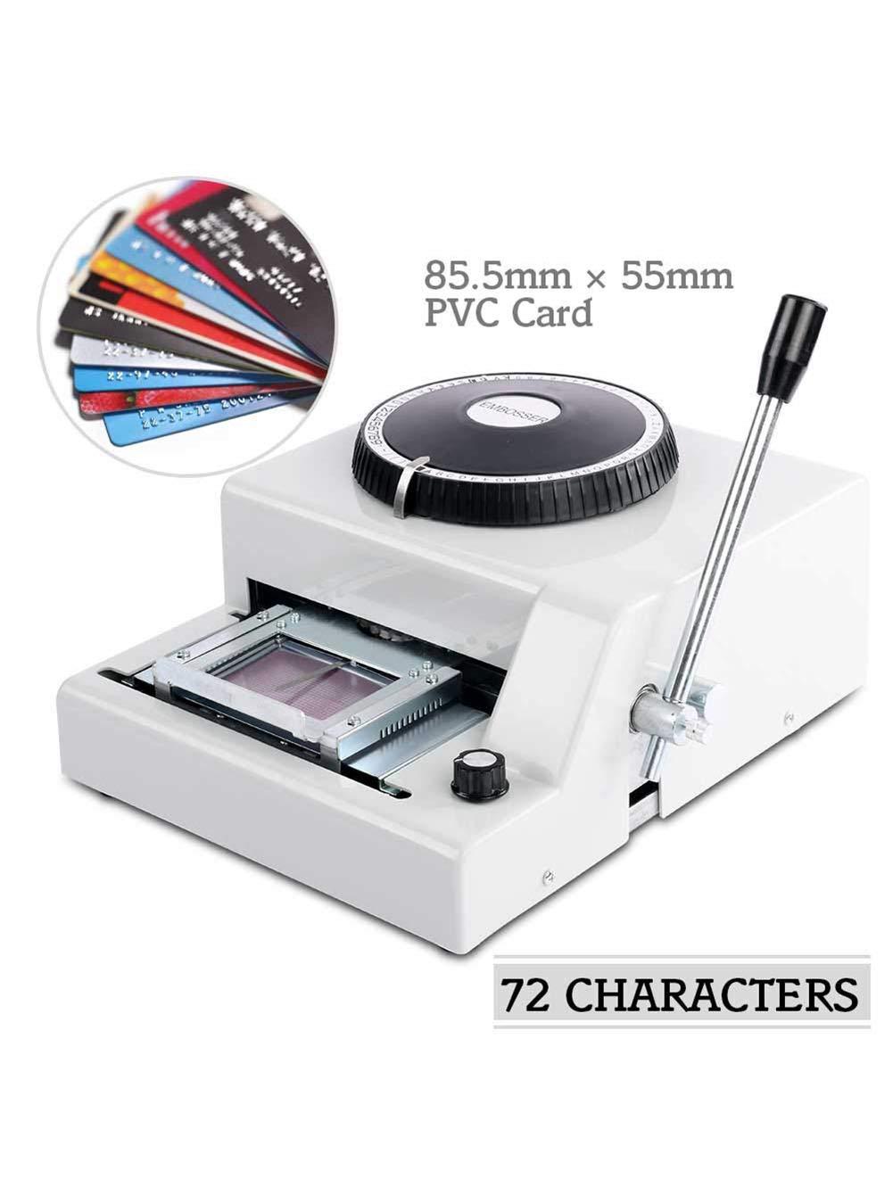 CalmMax Embossing Machine 72 Character PVC VIP Card Manual Embosser Machine