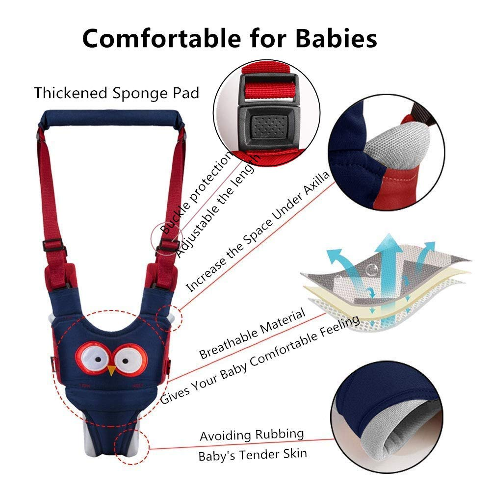 Standing Up and Walking Learning Helper Handheld Toddler Walking Harness Baby Walker by Autbye Baby Walking Assistant Harness 4 in 1 Adjustable Safety Walking Belt for Baby 6-27Months