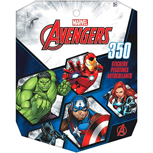 amscan Marvel Avengers Sticker Book | Party Favor | 12 Books