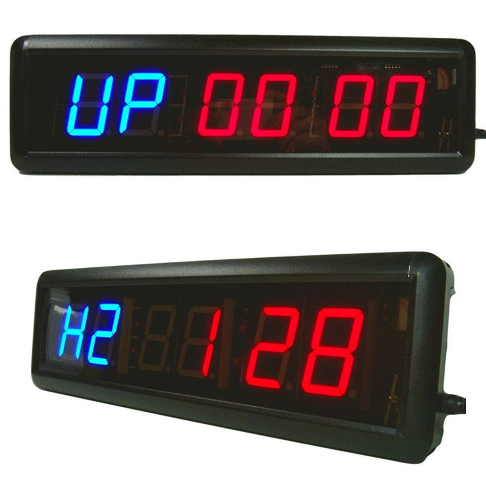 Amazon timer larger led digital wall clock w remote training amazon timer larger led digital wall clock w remote training hiit crossfit fitness interval best for gym boxing running kettlebells cardio and amipublicfo Choice Image