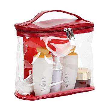e75607b1f718 Amazon.com   Clear Toiletry Bag for Men and Women