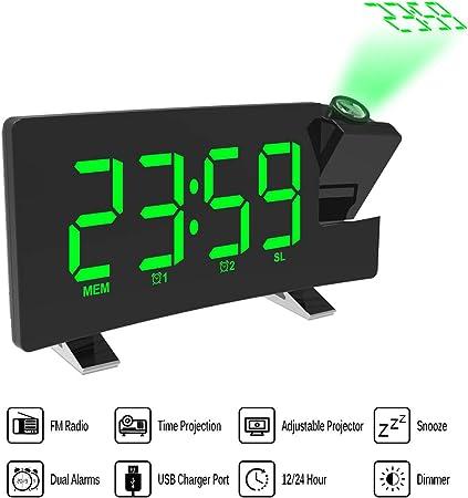 15 x 4 x 9 cm Technoline WT 538 R/éveil projecteur Radio-pilot/é avec capteur Tactile Argent//Anthracite avec Batteries