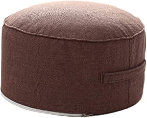 """idee-home Small Pouf for Kids Foot Stools Ottomans - Foot Rest Pouffe for Sitting, Ottoman Pouf for Living Room Small Space, Lightweight & Handle Design for Easy Removal 14""""x14""""x7"""""""