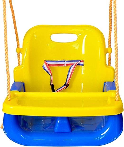 Liziyu 3 en 1 Multifuncional niño Exterior Columpio Asiento de Cuerda Juguetes para 2-15 niños Columpios cinturón Asiento Juguetes PE Colgando jardín de Infantes Juegos para niños: Amazon.es: Hogar