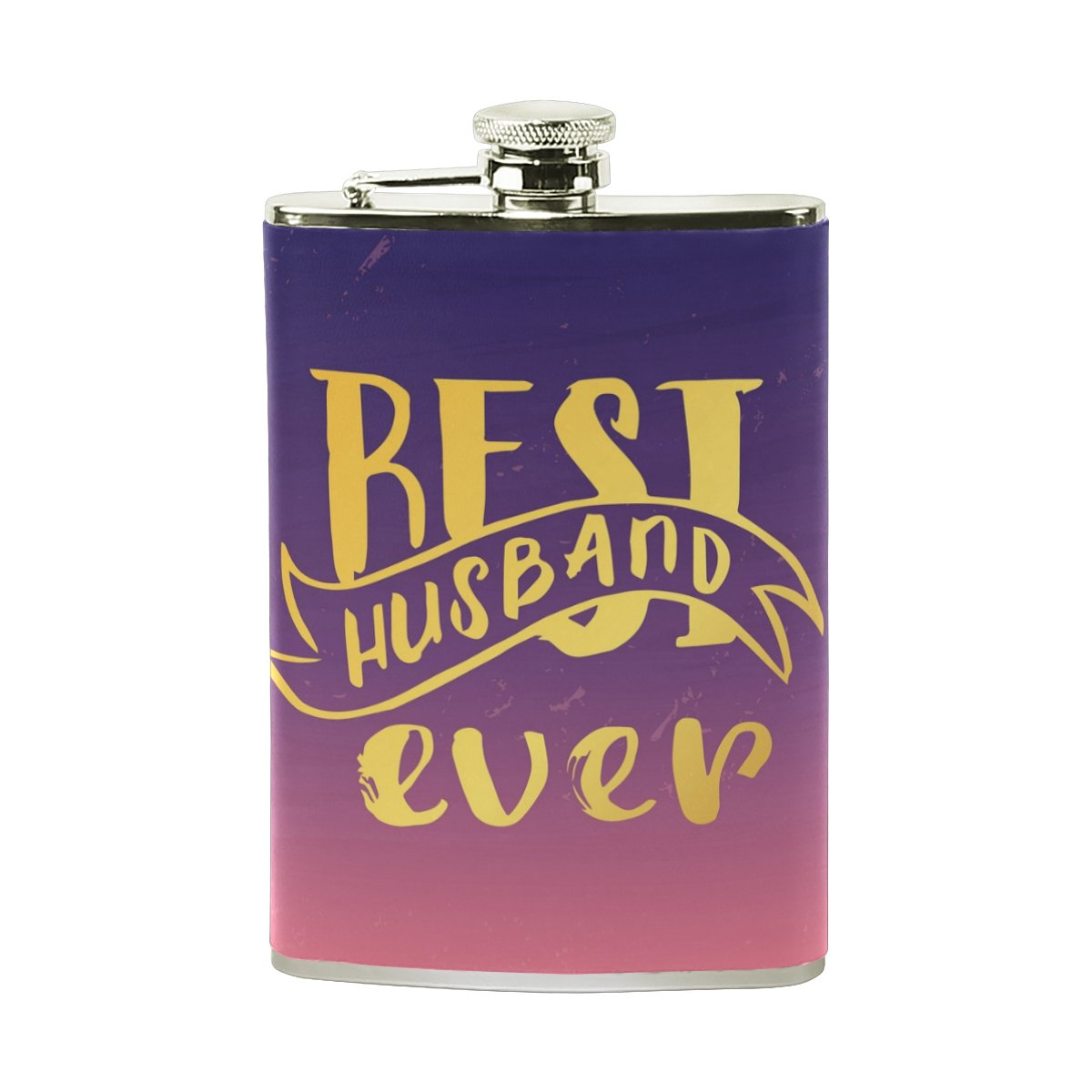 【本物保証】 Alaza Best Husband 100 Everヒップフラスコステンレススチール8オンスポケットショットのフラスコLiquor Alaza Whiskey Best VodkaラムPUレザーWrapped 100 % Leak Proof B075ZTRLPS, 志津川町:1d330c68 --- a0267596.xsph.ru