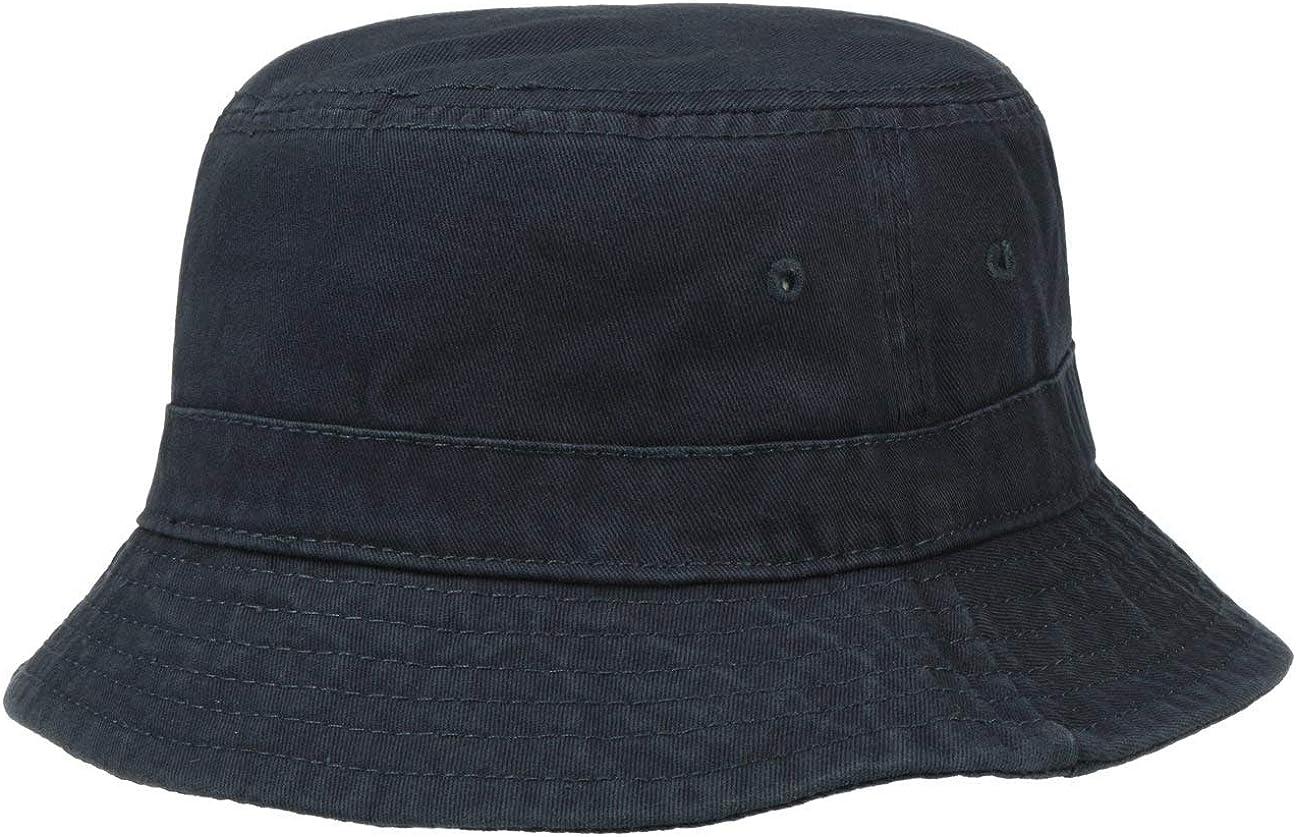 Fischerhut knautschbar Lipodo Schlapphut Damen//Herren L//XL Sonnenhut Blau Hut aus 100/% Baumwolle Grau Beige Stoffhut S//M
