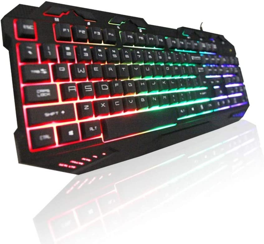 Black DADUIZHANG Profession Game Mechanical Original Backlight Gaming Al Keyboard Blue Switches Metal Wired USB Keyboard 112 Key for Pro Pc R